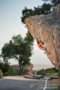 Rock Climbing Photo: Spenser Tang-Smith sending the troj.