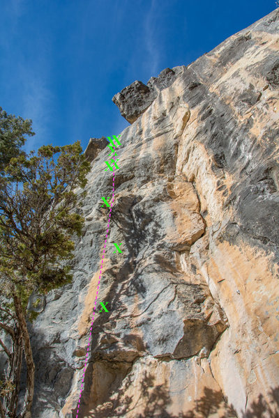 Rock Climbing Photo: After the 3rd bolt there is a set of two that bolt...