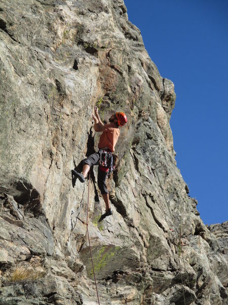 Rock Climbing Photo: Steve Grigel enjoying the great moves up Beer for ...
