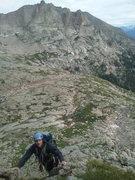 Rock Climbing Photo: Ascent. Lower N Ridge, Spearhead, RMNP