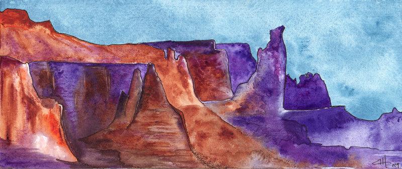 The Titan  watercolor by HC Hopper
