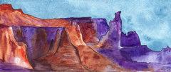 Rock Climbing Photo: The Titan  watercolor by HC Hopper