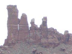 Rock Climbing Photo: Shadows Route