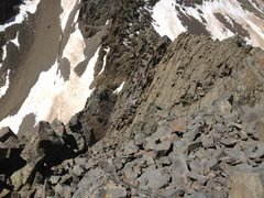 Rock Climbing Photo: Looking down the South face and West ridge of Glad...