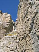 Rock Climbing Photo: Dave Pedersen having fun at bolt 7.