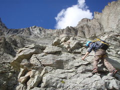 Rock Climbing Photo: Some of the irreversible, unprotectable, steep, lo...
