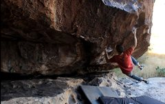 Rock Climbing Photo: Sticking the razor jug on the big move of Short Or...