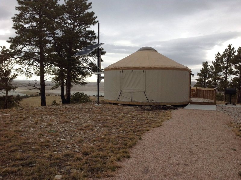 Rock Climbing Photo: yurts for rent