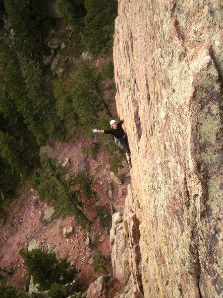 Rock Climbing Photo: Right around where you leave the leftward traverse...
