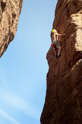Rock Climbing Photo: Me near the top.  Climbing eases up about here.  W...