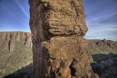Rock Climbing Photo: maybe half way? up.