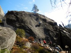 Rock Climbing Photo: The west face of Split Rock at Sugarloaf.