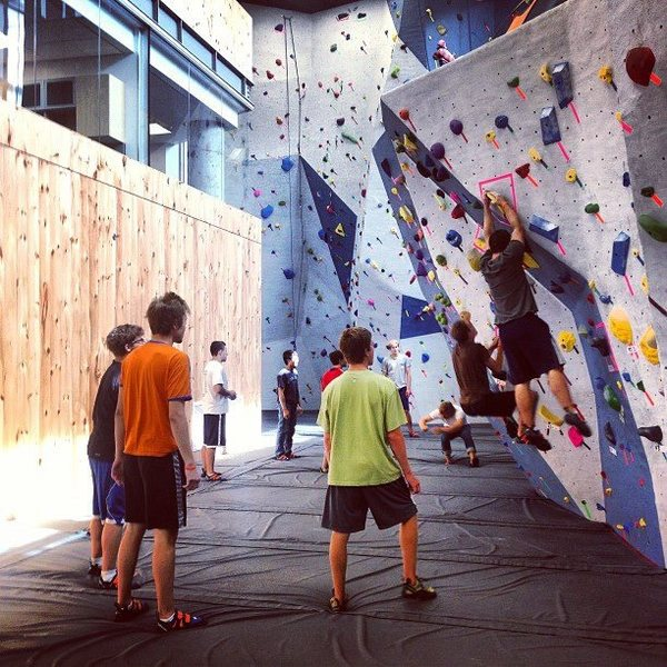 Rock Climbing Photo: New UMN climbing wall!