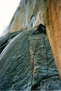 Rock Climbing Photo: Low on Route
