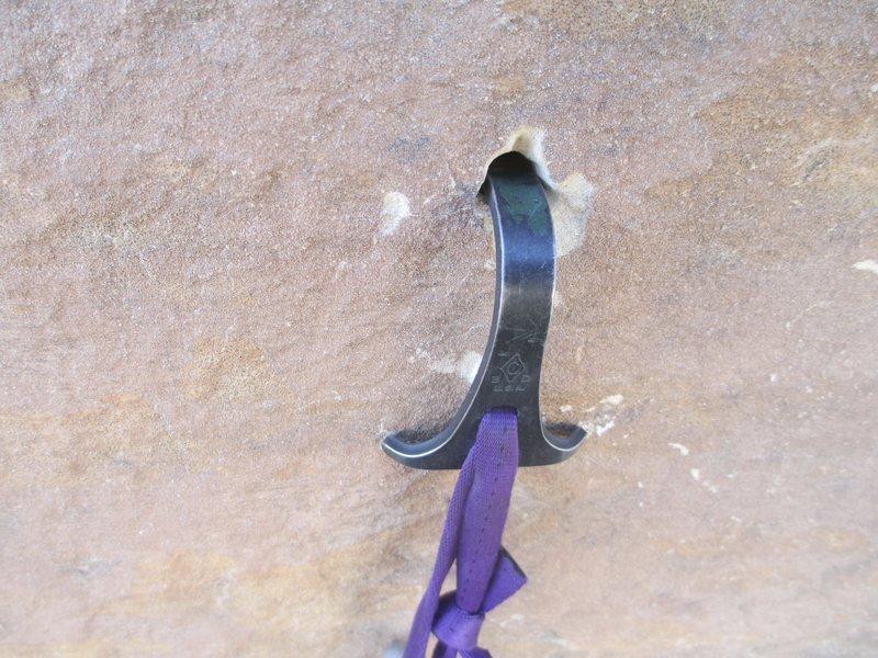 Rock Climbing Photo: Streaked Hookin