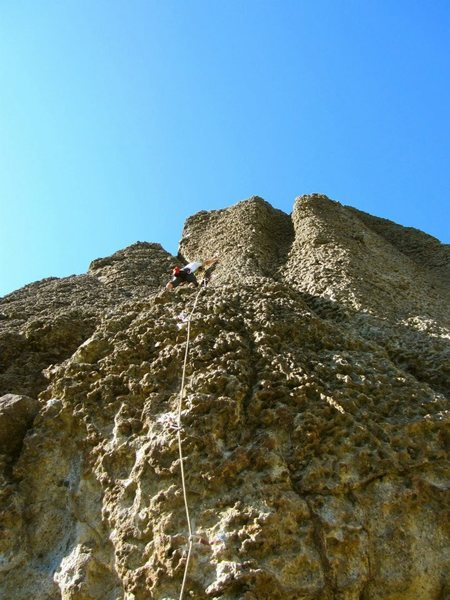 Rock Climbing Photo: Fun route. First 10d lead!