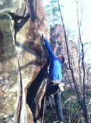Rock Climbing Photo: big move