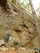 Rock Climbing Photo: Right Arete 5.8, #1