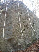 Rock Climbing Photo: Main face of Ball Buster