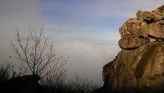 Rock Climbing Photo: Tanya Chupa on the final corner/crack of Twin Crac...