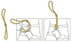 Rock Climbing Photo: Girth hitch through both tie-in loops.