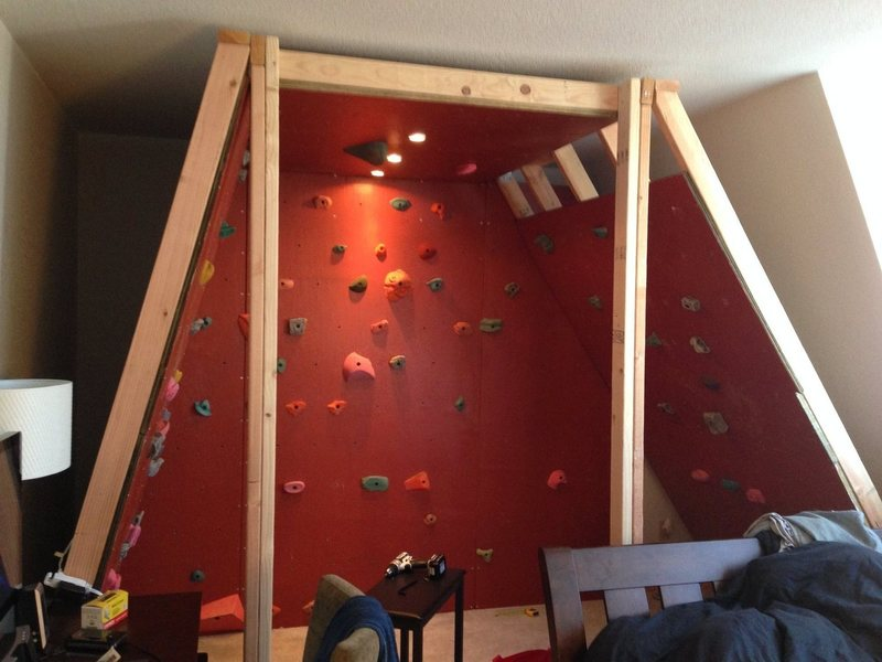 trapezoidal bouldering cave