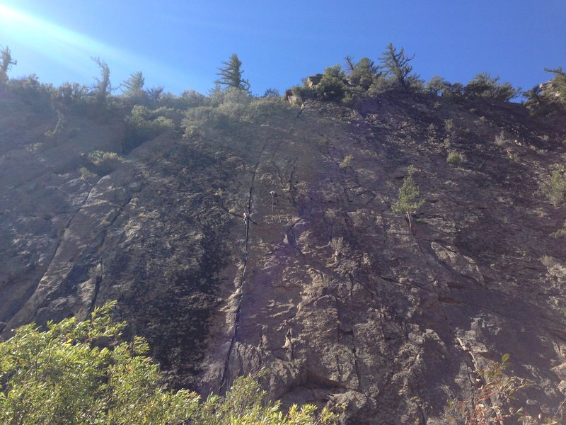 Ending Crack, Sespe Gorge (Black Wall)
