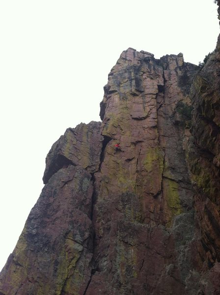 Rock Climbing Photo: Second pitch. You can link 1&2 with minimal rope d...