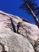 Rock Climbing Photo: Eddie making it look easy on lead. (I thrashed, an...