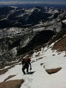 Rock Climbing Photo: Eddie coming up the homestretch after a marathon m...