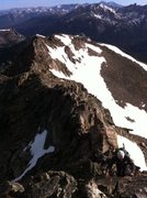 Rock Climbing Photo: Austin coming up the last section of the North Rid...