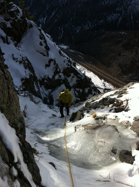 Eddie topping out on tier six with I-70 wayyy below. This is going to be a long descent....