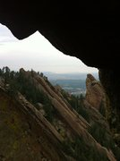 Rock Climbing Photo: The Third Flatiron as seen through the Needle's Ey...