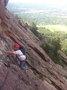 Rock Climbing Photo: Near the top of P1 of Free for All. Check out the ...