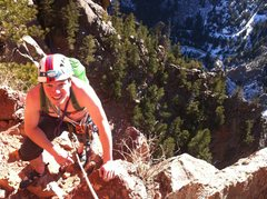 Rock Climbing Photo: Gotta love that Colorado sun. Snow on the ground, ...
