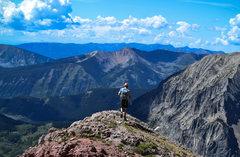 Rock Climbing Photo: Descending the S ridge.