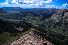 Rock Climbing Photo: Heading down. What a view!