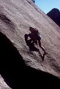 Rock Climbing Photo: Pitch one, Topographical Oceans. Gary Molzan leadi...
