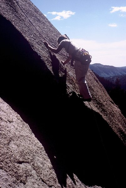 Some 5.9+ friction follows the difficult step...