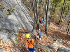Rock Climbing Photo: Topropers along the base of Super Slab.