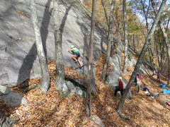 Rock Climbing Photo: A popular toprope line.
