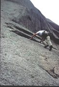 Rock Climbing Photo: Rodger following on pitch 2.