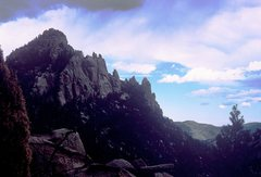 Rock Climbing Photo: Cathedral Spires from Dome Rock.