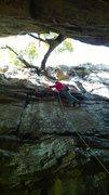 Rock Climbing Photo: Around the Fur.  Climb through the two large chick...