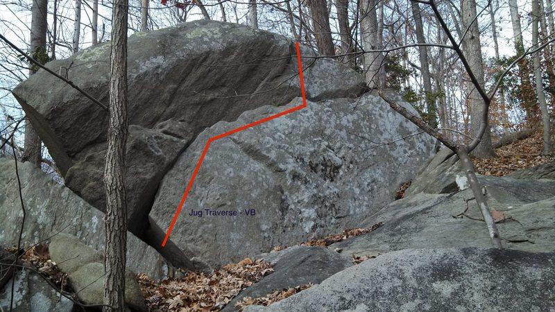 Rock Climbing Photo: Jug Traverse