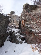 Rock Climbing Photo: Hessie Chimney on 11/23/13.