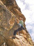 Rock Climbing Photo: Mike Arechhiga on, Short And Swanky. 5.10b, High E...
