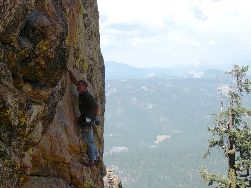 Rock Climbing Photo: Mike Arechiga on, Little Kala. 5.11b, High Eagle D...