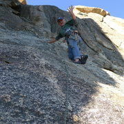 Rock Climbing Photo: Mike Arechiga on the Fresno Dome classic, Whiskey ...