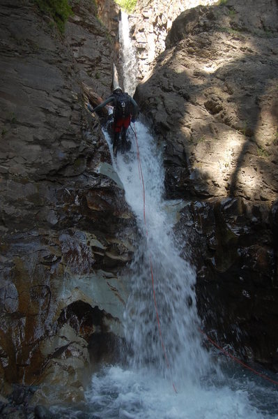 Rock Climbing Photo: Going down instead of up for a change. Nathan desc...